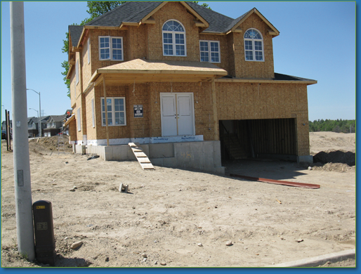 Kitchener-Conestogo Rotary Dream Home before landscaping begins.